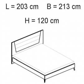 Кровать 198х203 люкс Status Vega White