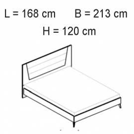 Кровать 160х203 люкс Status Vega White
