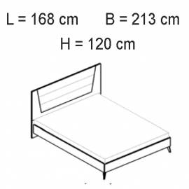 Кровать 154х203 Status Vega White