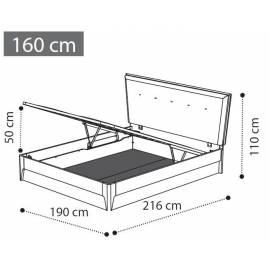 Кровать Soft 160 см с ящиком коллекции Storm Camelgroup