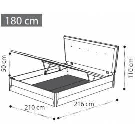 Кровать Soft 180 см с ящиком коллекции Storm Camelgroup