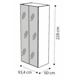 Шкаф 2-х дверный с зеркалами Storm Camelgroup