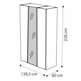 Шкаф 3-х дверный с зеркалами Storm Camelgroup