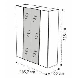 Шкаф 4-х дверный с зеркалами Storm Camelgroup