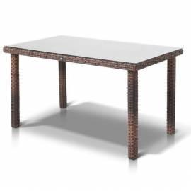 Плетёный обеденный стол 140х80 4SIS Макиато темно-коричневый