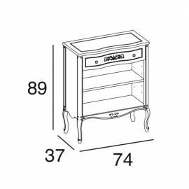 Шкаф книжный Panamar 716.074