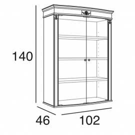 Шкаф книжный Panamar 825.001