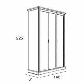 Шкаф 3-дверный Panamar 875.003