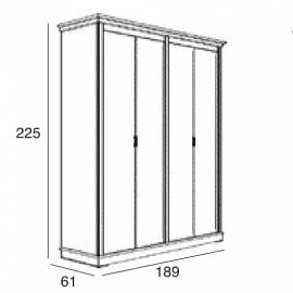 Шкаф 4-дверный Panamar 875.004