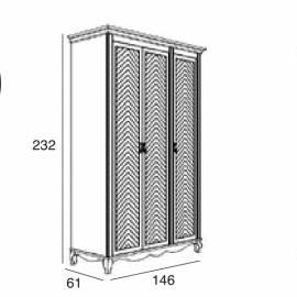 Шкаф 3-дверный Panamar 876.003