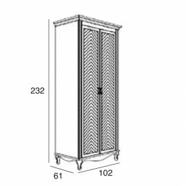 Шкаф 2-дверный Panamar 877.002