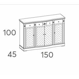 Комод-прилавок 3-дверный Panamar 831.150