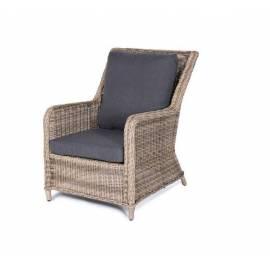 Кресло плетёное 4SIS Гляссе соломенного цвета