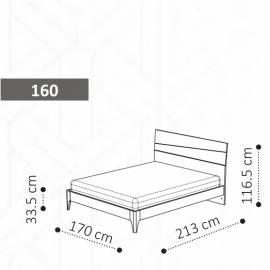 Кровать TEKNO 160 Camelgroup Tekno