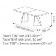 Стол обеденный TENT 140/240х105 Camelgroup Elite раскладной, размеры - Фото 3