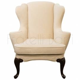 Кресло вольтеровское Fratelli Barri Mestre, Махагон/ткань,  FB.ACH.MES.325