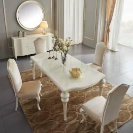 Обеденный стол 180х100 Fratelli Barri Rimini, фиксированный, жемчужно-белый, FB.DT.RIM.176