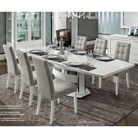 Обеденный стол 160/205 Roma Bianco Camelgroup, овальный раздвижной
