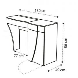 Стол туалетный B правый Camelgroup Luna Noce 151TOI.01NO