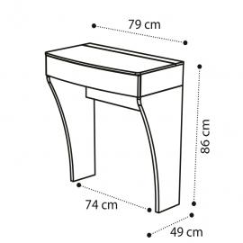 Стол туалетный Camelgroup Luna Noce Тип А, 151TOI.08NO