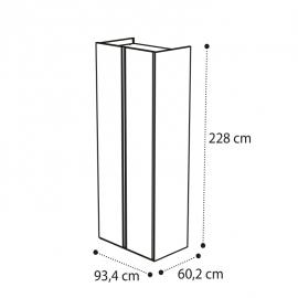 Шкаф 2-дверный Camelgroup Luna Noce 151AR2.01NO