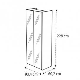 Шкаф 2-дверный Camelgroup Luna Noce с зеркалами 151AR2.02NO