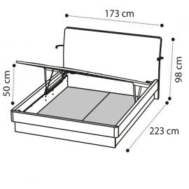 Кровать ECLISSE 160х200 с под.мех. Camelgroup Luna Frassino 151LET.03FR
