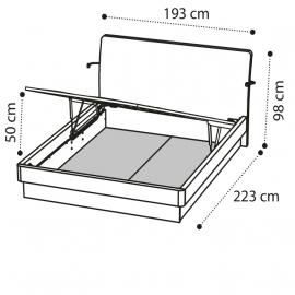 Кровать ECLISSE 180х200 с под.мех. Camelgroup Luna Frassino 151LET.04FR