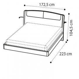 Кровать SINKRO 160х200 экокожа Nabuk 12 Camelgroup Luna Frassino 151LET.06FR
