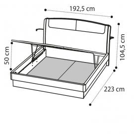 Кровать SINKRO 180х200 с под.мех. экокожа Nabuk 12 Camelgroup Luna Frassino 151LET.09FR