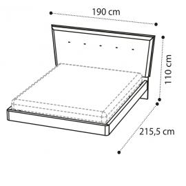 Кровать URANO 160х200 Camelgroup Luna Frassino 151LET.18FR