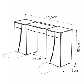 Стол туалетный Е Camelgroup Luna Frassino 151TOI.07FR