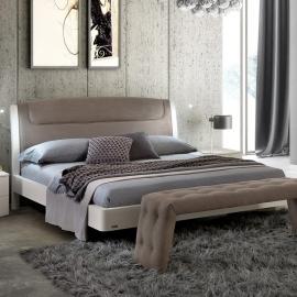 Кровать SINKRO 160х200 с под.мех. экокожа Nabuk 12 Camelgroup Luna Frassino 151LET.08FR