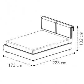 Кровать VENUS 160x200, кат. С Camelgroup 158LET.01TS63