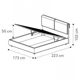 Кровать VENUS 160x200 с под.мех LUNA Camelgroup 158LET.03TS63