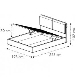 Кровать VENUS 180x200 с под.мех LUNA Camelgroup 158LET.04TS63