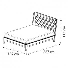 Кровать 180x200 Camelgroup Giotto (Орех) 157LET.02NO