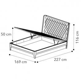 Кровать 160x200 Camelgroup Giotto (Орех) с подъемным механизмом 157LET.03NO