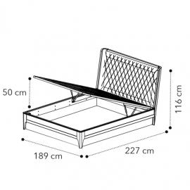 Кровать 180x200, с под.мех GIOVE Camelgroup Giotto 157LET.04NO