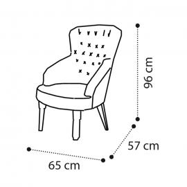 Кресло Camelgroup Giotto (Орех) ткань Miraglio 157POL.01NOMS338