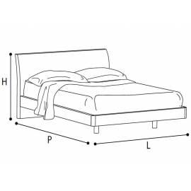 Кровать Dama 160 см коллекции Dama Bianca Camelgroup