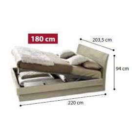 Кровать Dama 160 см с контейнером Luna коллекции Dama Bianca Camelgroup