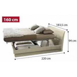 Кровать Dama 160 см с контейнером Praktik коллекции Dama Bianca Camelgroup