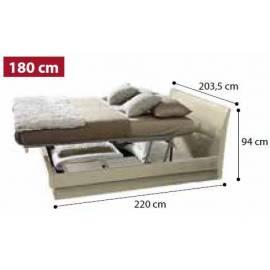 Кровать Dama 180 см с контейнером Praktik коллекции Dama Bianca Camelgroup