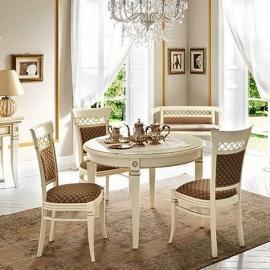 Стол обеденный 110/148 Palazzo Ducale Laccato Prama, круглый раздвижной 71BO54