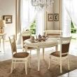 Стол обеденный 110/148 Palazzo Ducale Laccato Prama, круглый раздвижной 71BO54 - Фото 1