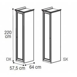 Шкаф 1-дверный низкий Nostalgia Bianco Antico Camelgroup