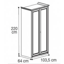 Шкаф 2-дверный низкий Nostalgia Bianco Antico Camelgroup