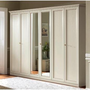 Шкаф 5-дверный низкий Nostalgia Bianco Antico Camelgroup