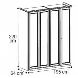 Шкаф 4-дверный низкий Nostalgia Bianco Antico Camelgroup
